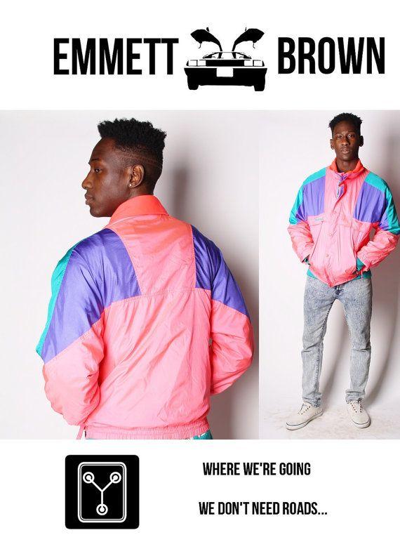90s Day-Glo Neon Pink  Colorblock Coumbia Windbreaker Jacket  Hot Pink 00208s