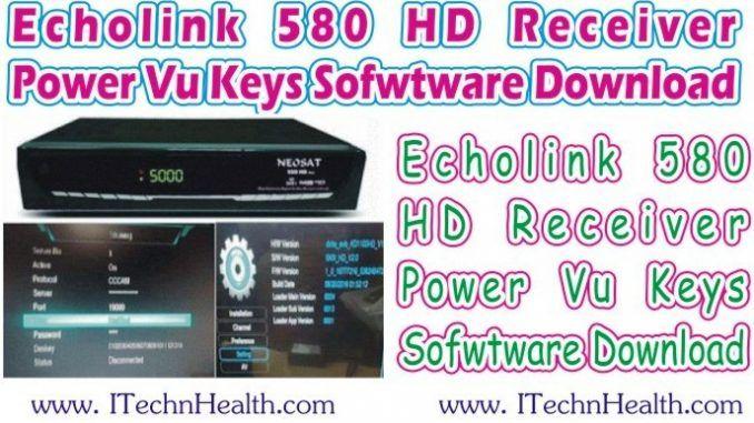 Echolink 580 HD Receiver 2018 New PowerVU Key Software