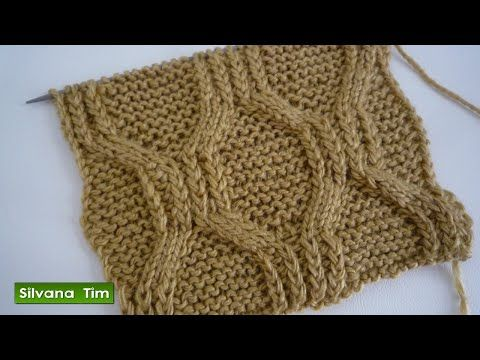 Punto ROMBOS sin CRUZAR. Tejido con dos agujas # 93 Patterns knitting - YouTube
