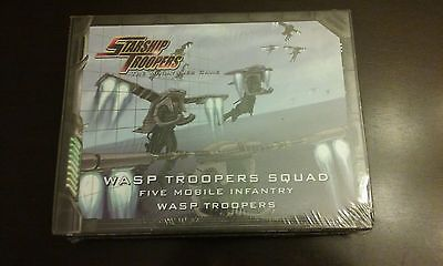 Starship Troopers 5 WASP Troopers Squad, Mobile Infantry Miniatures Game Metal