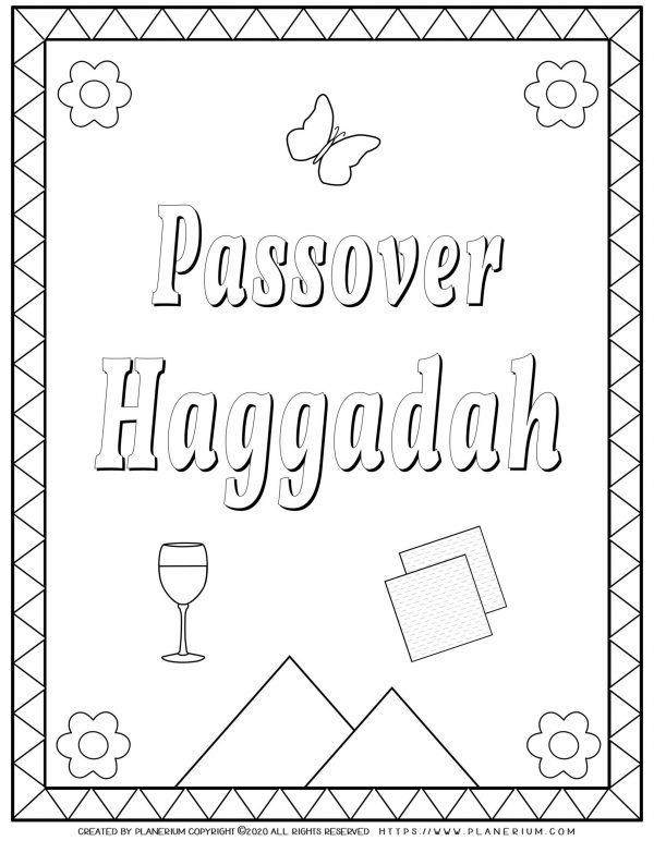 Passover Free Coloring Pages And Worksheets Planerium In 2020 Coloring Pages Passover Haggadah Passover