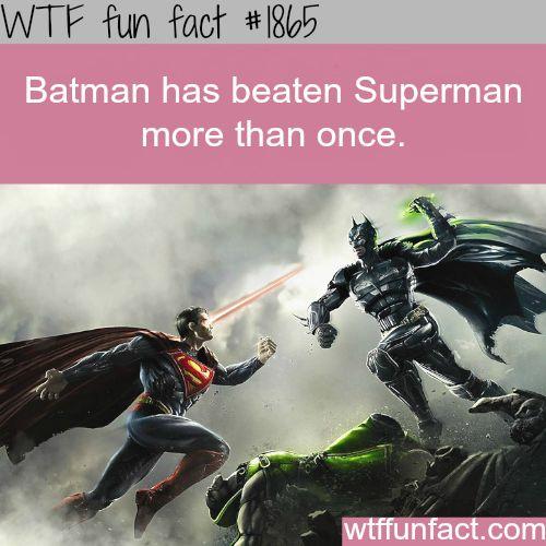 Batman vs Superman, who is the winner? - WTF fun facts Feel free to share on Pinterest  http://www.fashionupdates.net