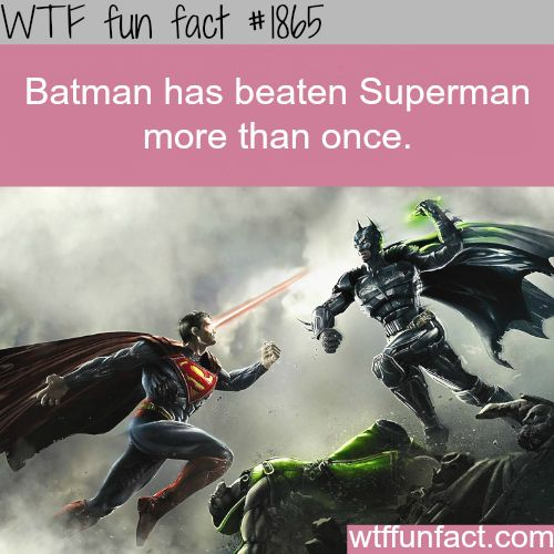 Batman vs Superman, who is the winner? - WTF fun facts Feel free to share on Pinterest  http://www.fashionupdates.net