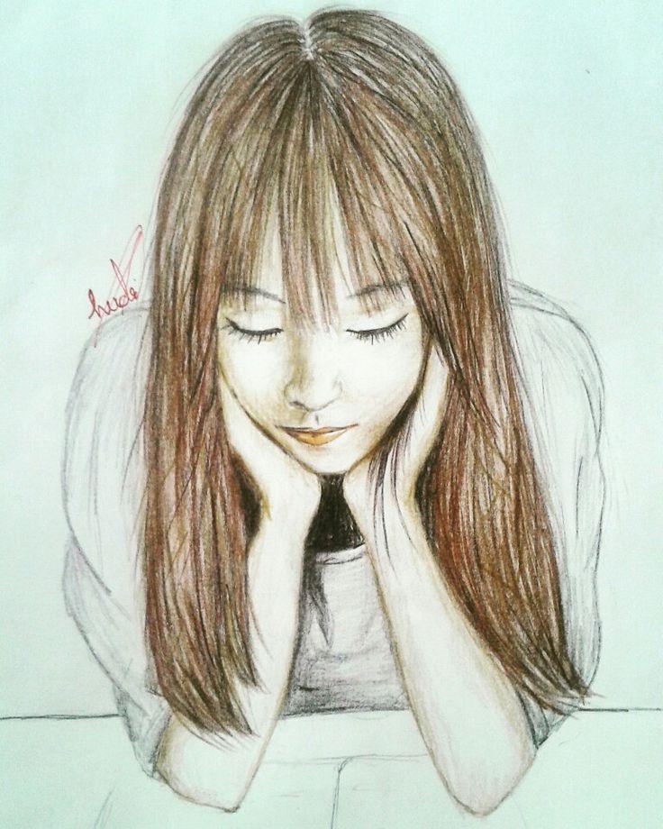 #korean #art #drawings  omg... I love the Korean eyes..