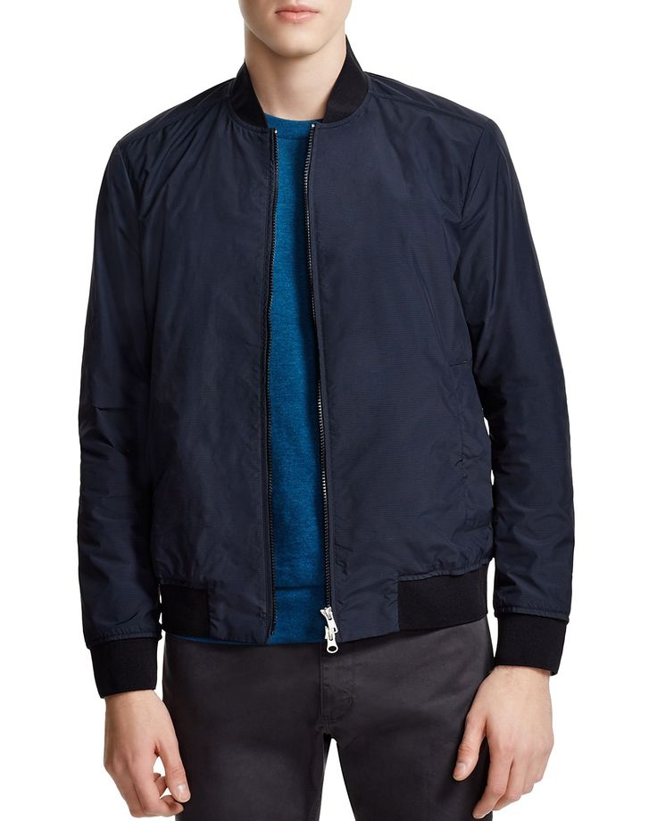 Designed for our exclusive 100% Bloomingdale's collection, this sporty Brant Burrow rip-stop nylon bomber jacket from Theory is an easy-going classic you'll wear everywhere. #100PercentBloomies