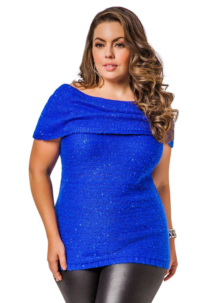 Sequined Marilyn Sweater - Ashley Stewart