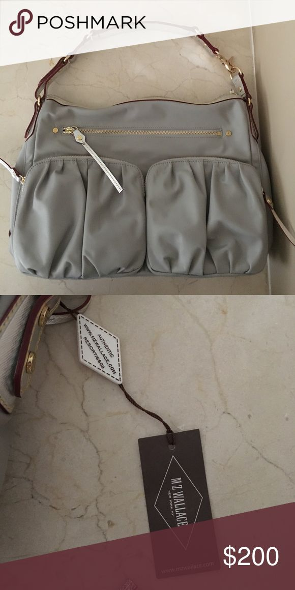 MZ Wallace Grey Bag Grey shoulder bag, brand new, never used, gold hardware MZ Wallace Bags Shoulder Bags