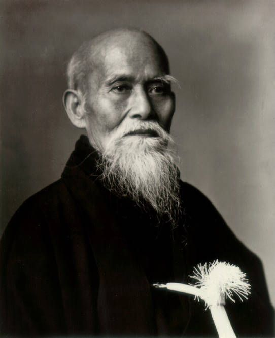 Morihei Ueshiba  December 14, 1883 – April 26, 1969) was a famous martial artist and founder of the Japanese martial art of aikido.