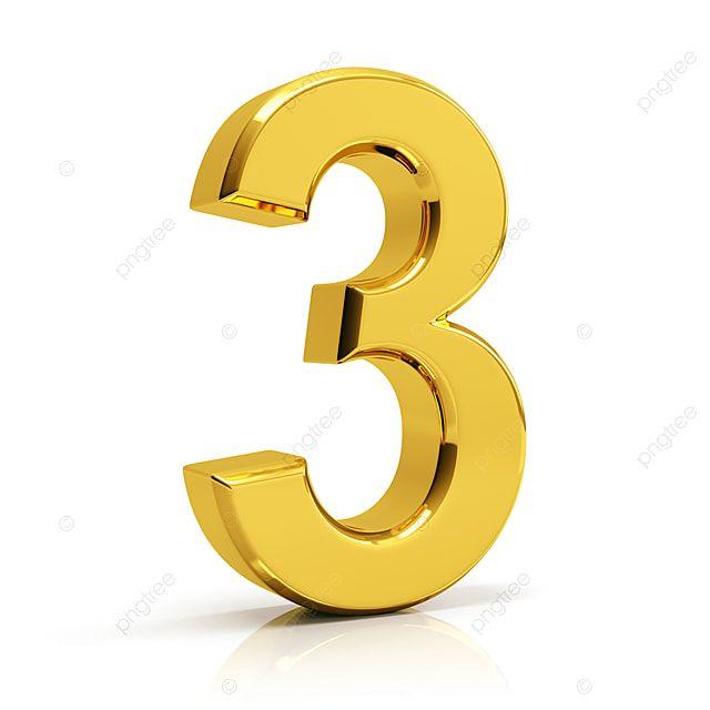 Gold Number 3 3 Number Number 3 Png Transparent Clipart Image And Psd File For Free Download En 2020 Marcos Vintage Png Dibujos De Jesus Oro