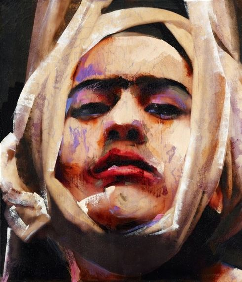 2010 FRIDA, Lita Cabellut (b1961, born a gipsy girl in the streets of El Raval in Barcelona, Cabellut was adopted at the age of 13)...