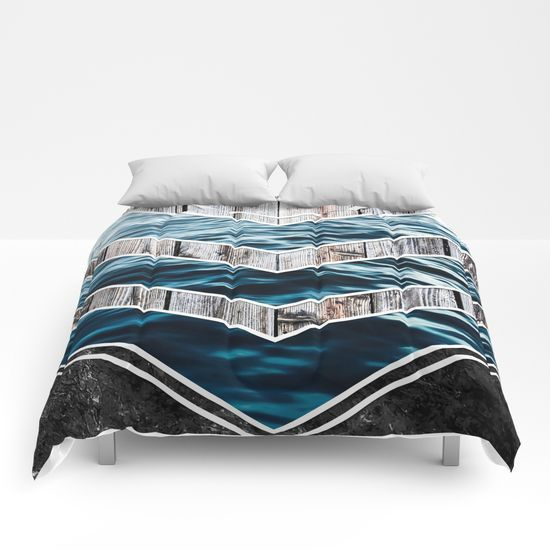 Striped Materials of Nature III Comforters #wood #wooden #marble #stone #sea #ocean #stripe #stripes #striped #nature #texture #homedecor #comforter