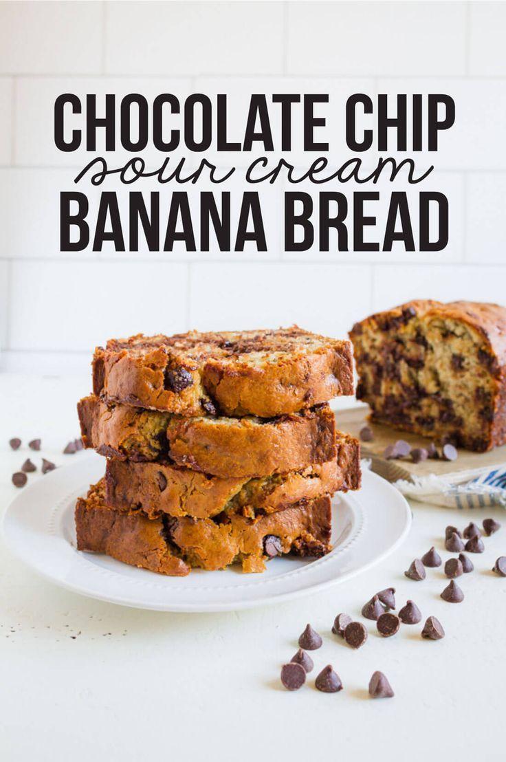 Chocolate Chip Sour Cream Banana Bread Recipe Sour Cream Banana Bread Chocolate Chip Banana Bread Recipe Chocolate Chip Banana Bread