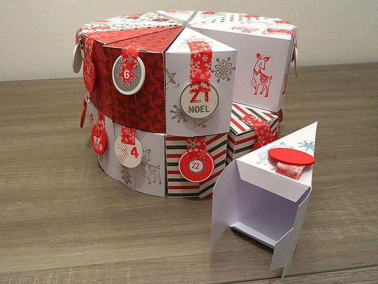 Voici un calendrier de l'avent gâteau pour Noël réalisé tout en papier. Pratique et à la portée de tous pour les plus petits comme les plus grands !