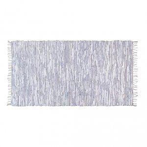 HK-living Vloerkleed leer licht grijs 175x90cm
