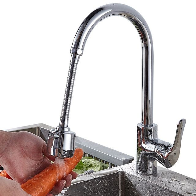 New Stainless Steel Faucet Extension Bubbler Rotate Shower Head Lengthen Tap Water Filter Home Stainless Steel Faucets High Arc Kitchen Faucet Faucet Extender