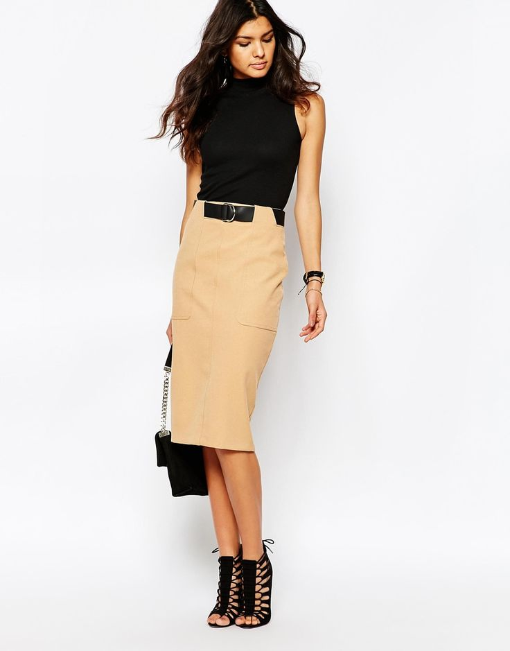 Image 1 of River Island Utility Pencil Skirt
