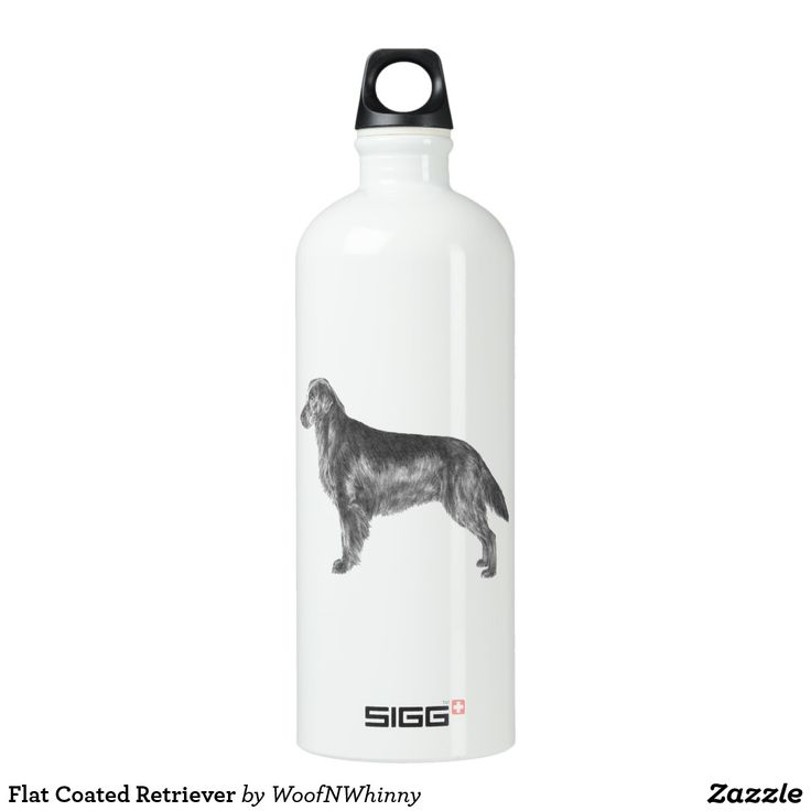 Flat Coated Retriever Water Bottle by WoofNWhinny*  #flatcoatedretriever #flatcoat #retriever #dog #doglover #giftidea