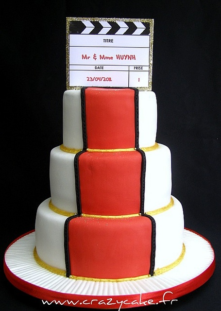 Cinema themed wedding cake by Crazy Cake - Cakedesigner57, via Flickr
