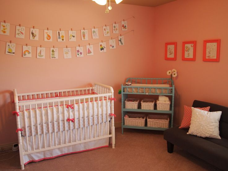 turquoise and coral baby boy room - Google Search