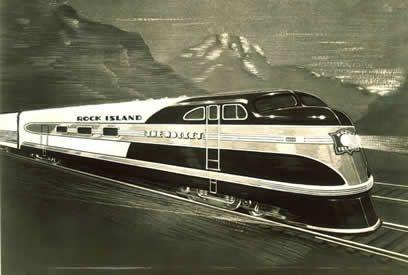 Rock Island Railroad streamline train, mid-1930s