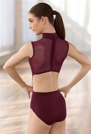 Sleeveless Mesh Back Leotard  4850c847f6b
