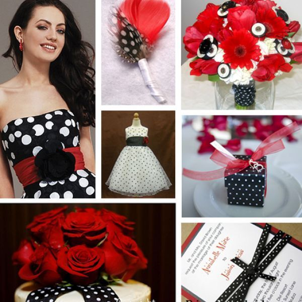 Red+wedding+ideas+2013 | Red Black And White Wedding Ideas Pictures 4