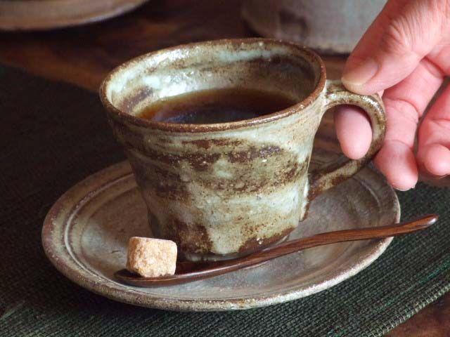 |灰釉コーヒーカップセット