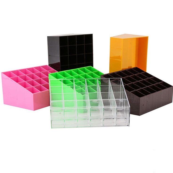 Clear Acrylic 24 Lipstick Holder Display Cosmetic Makeup Organizer Case Storage #Unbranded