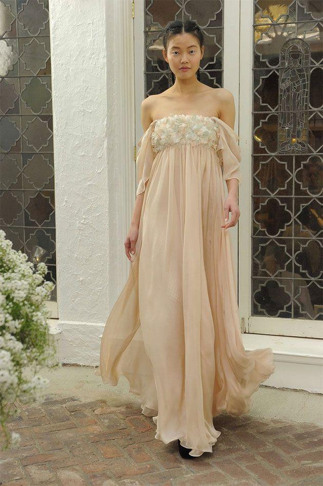 Da Houghton da estilista Katharine Polk, um rosê em silhueta império