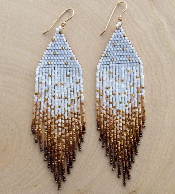 Boucles d'oreilles or Shimmerdisponible en par wildmintjewelry, $60.00