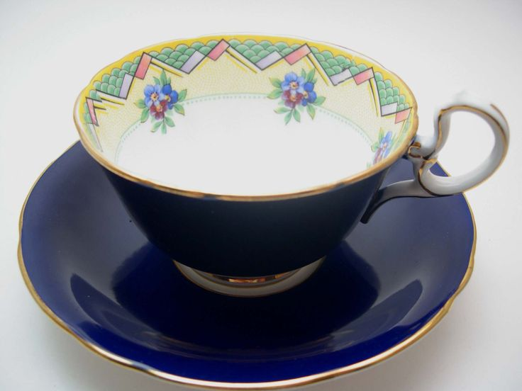 Rare Antique Art Deco 1930's Aynsley Tea Cup by AntiqueAndCrafts