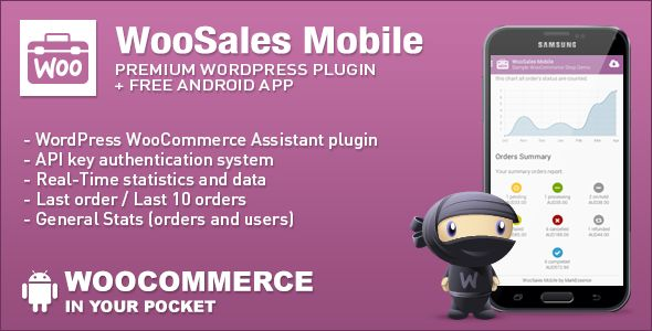 With WooSales Mobile you get the most important statistics and data directly in your pocket! Currently WooSales Mobile App is available only on Android powered devices.
