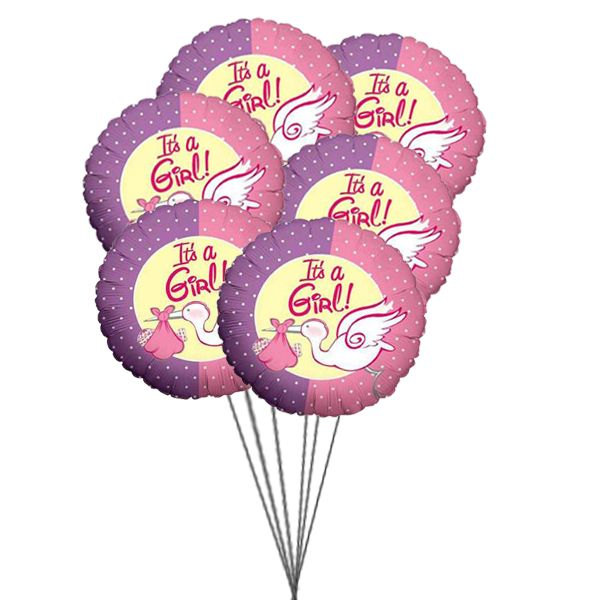 Congrats to new parents  with Violet wonder- 6 Mylar balloons for addition in new life...