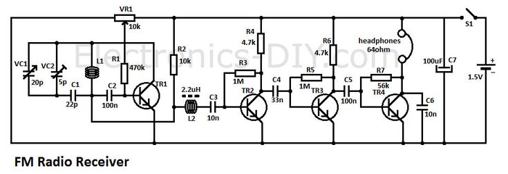 Circuitzone Schematics for projects | Wizzbangz in 2019 | Fm radio receiver, Electronic