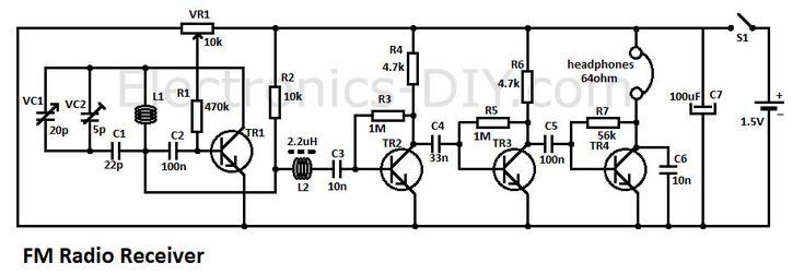 simple am receiver circuit diagram