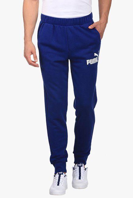 aa2f02c5fc58 Puma Blue Printed Mid Rise Joggers -