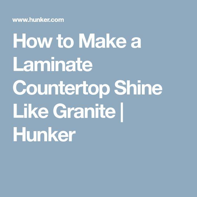 How to Make a Laminate Countertop Shine Like Granite | Hunker