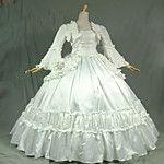 Thema Kleid steampunk®18th Jahrhundert Blau und Weiß Marie Antoinette Zeitraum Brautkleid Leistung 2016 - ₣138.23