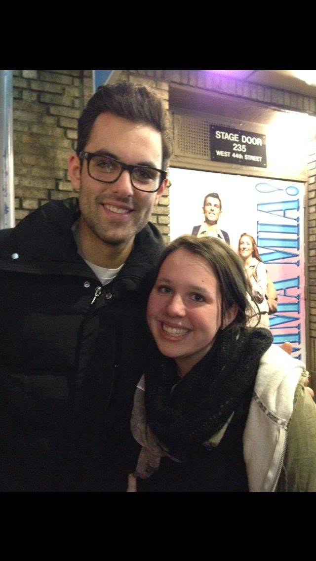 13 years old.. Becoming 'friends' to this broadway hunk. Pretty sure he thinks I'm a stalker but oh well. <3
