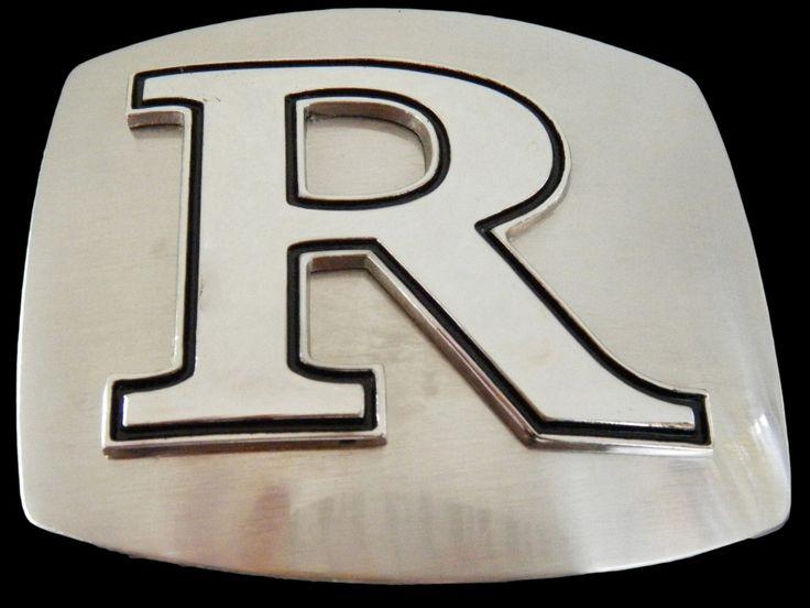 initial letter r chrome name belt buckle belts buckles With belt buckles with letters on them