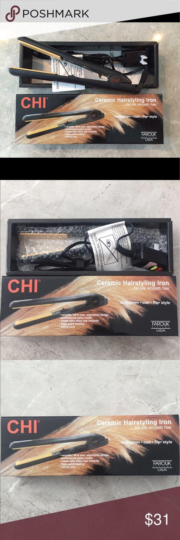 Sale‼️ Chi Flat Iron Black 1 Inch Ceramic Plates New Chi Flat Iron Hair Straightener Black Color 1 Inch 100% Ceramic Plates Brand New In The Box! CHI Accessories Hair Accessories
