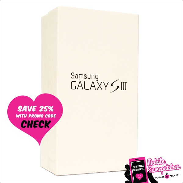 Would you like to win this awesome Samsung Galaxy SIII? Repin this to your board and fill out our official entry form here: http://poundstopocket.co.uk/pound-place/no-strings