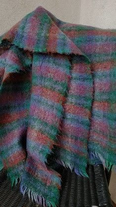 Irish Vintage Blanket Throw Mohair Wool by ChickadeeVintageHome