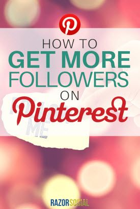 Want more followers on Pinterest? RazorSocial has the keys you need to grow your following.