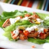 Creole Salmon Lettuce Wraps with Grilled Squasho de Gallo