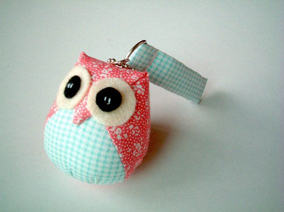 Pidwegeon - the Little Cute Owl Doll with Bag: plush, keychain, owl decor, kid room, baby room, wedding favors, boy, girl, kid, blue, pink