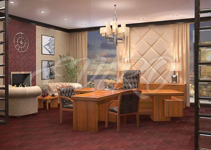 Дизайн кабинета руководителя сети продуктовых магазинов.