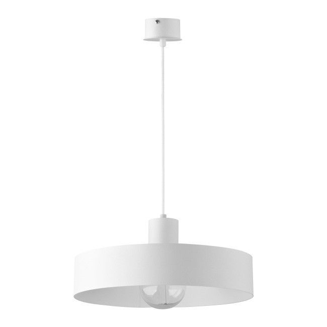 Lampa wisząca Rif L 1 x 60 W E27 biała Lampy wiszące