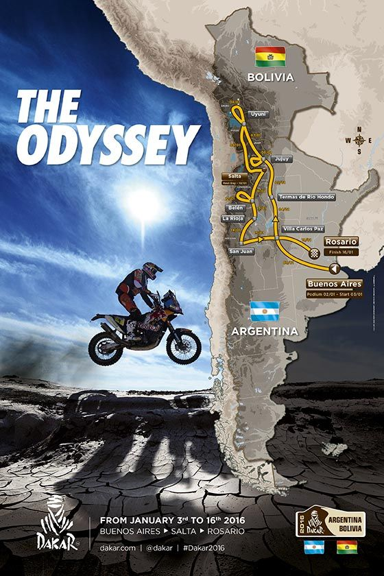 Dakar 2016 - De route