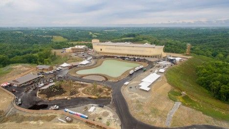 Noah's Ark theme park opens in Kentucky as flash floods hit the US